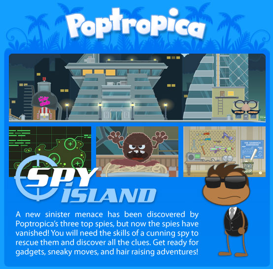 Poptropica Cheats Spy Island