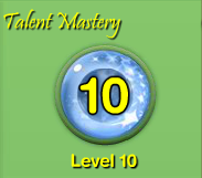 My talent level is level 10.