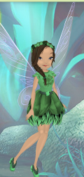 Here is my fairy, dressed up in honor of St. Patrick's Day.