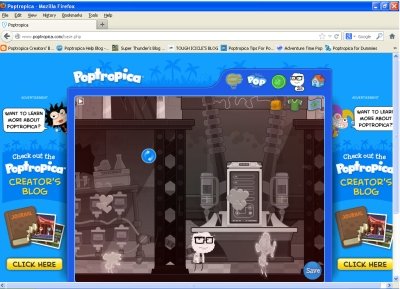 This is what happens when you use all the gold cards in the store which do something to Poptropicans.