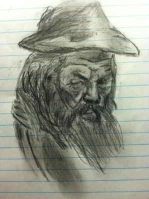 Gandalf Drawing By Meh