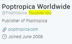 Poptropica Follows Us
