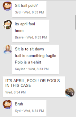April Fool's Prank